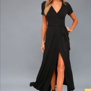 Lulu's maxi wrap dress